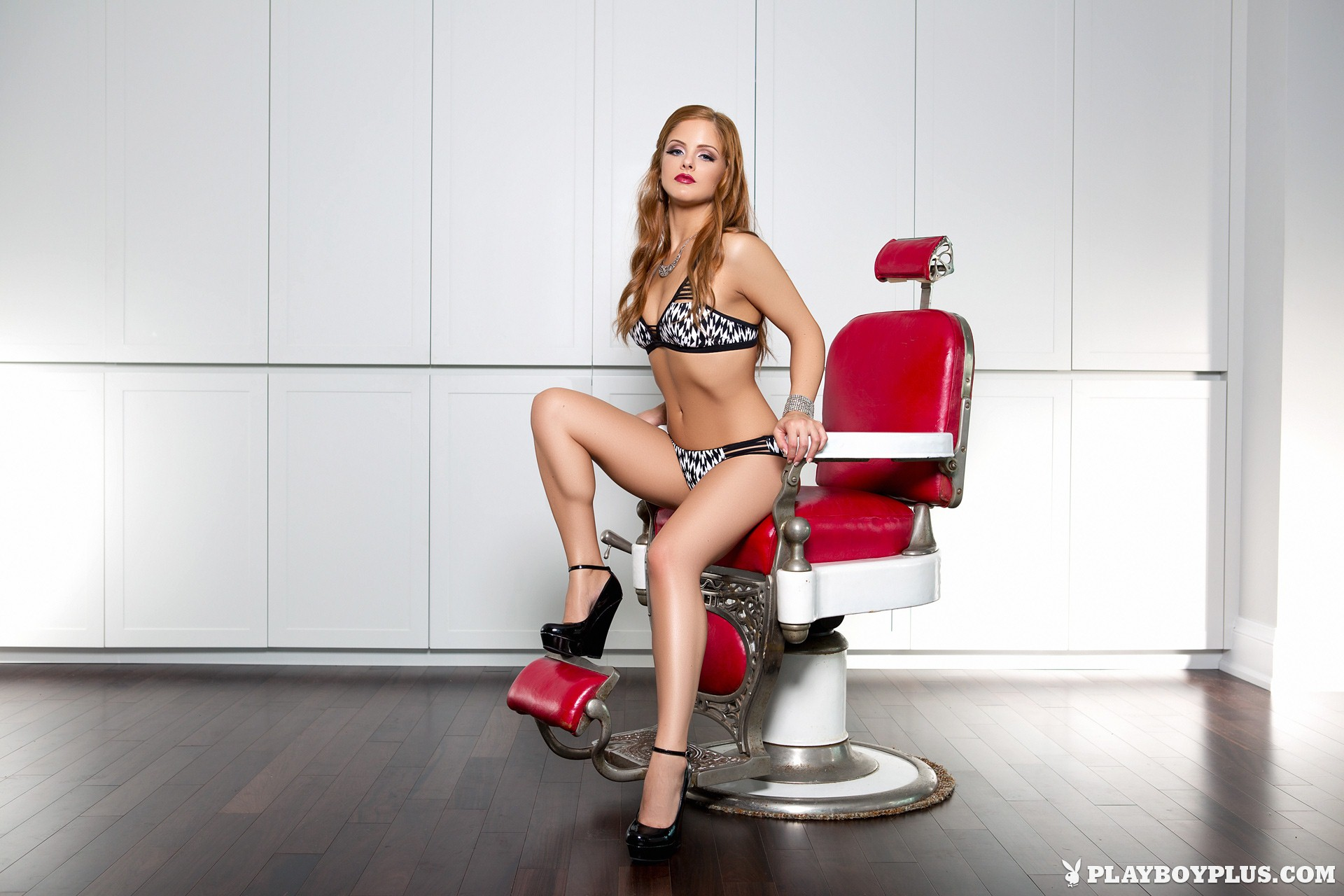 Josée Lanue nude in Barber's Chair for Playboy | Daily Girls @ Female Update