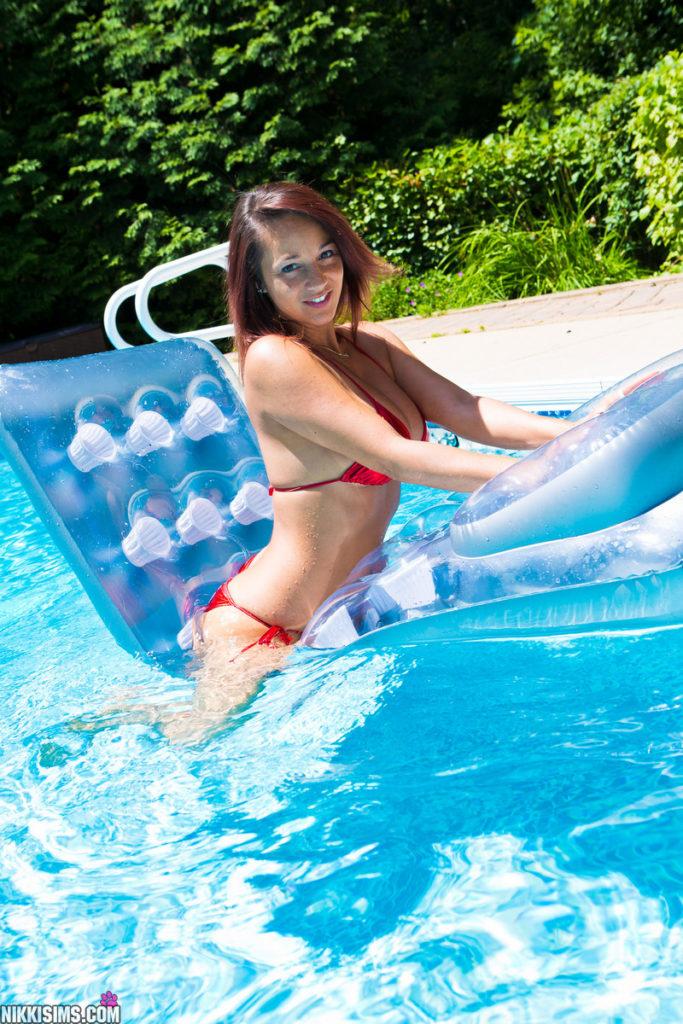 Nikki Sims in a Red Bikini | Daily Girls @ Female Update