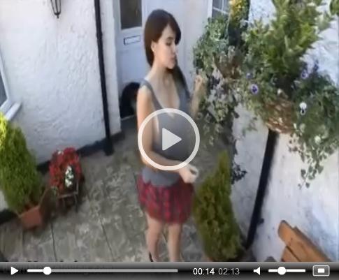 Sammy Brushing Up On Downblouse Loving | Daily Girls @ Female Update