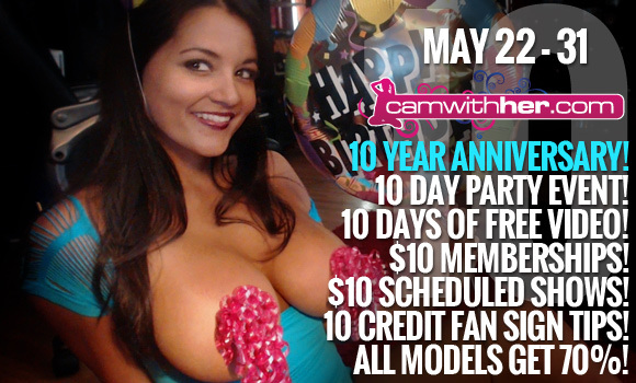 The Epic CamWithHer 10 Year Anniversary Party | Daily Girls @ Female Update